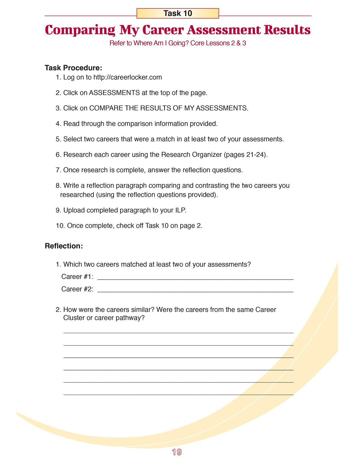 Career Worksheets For Middle School