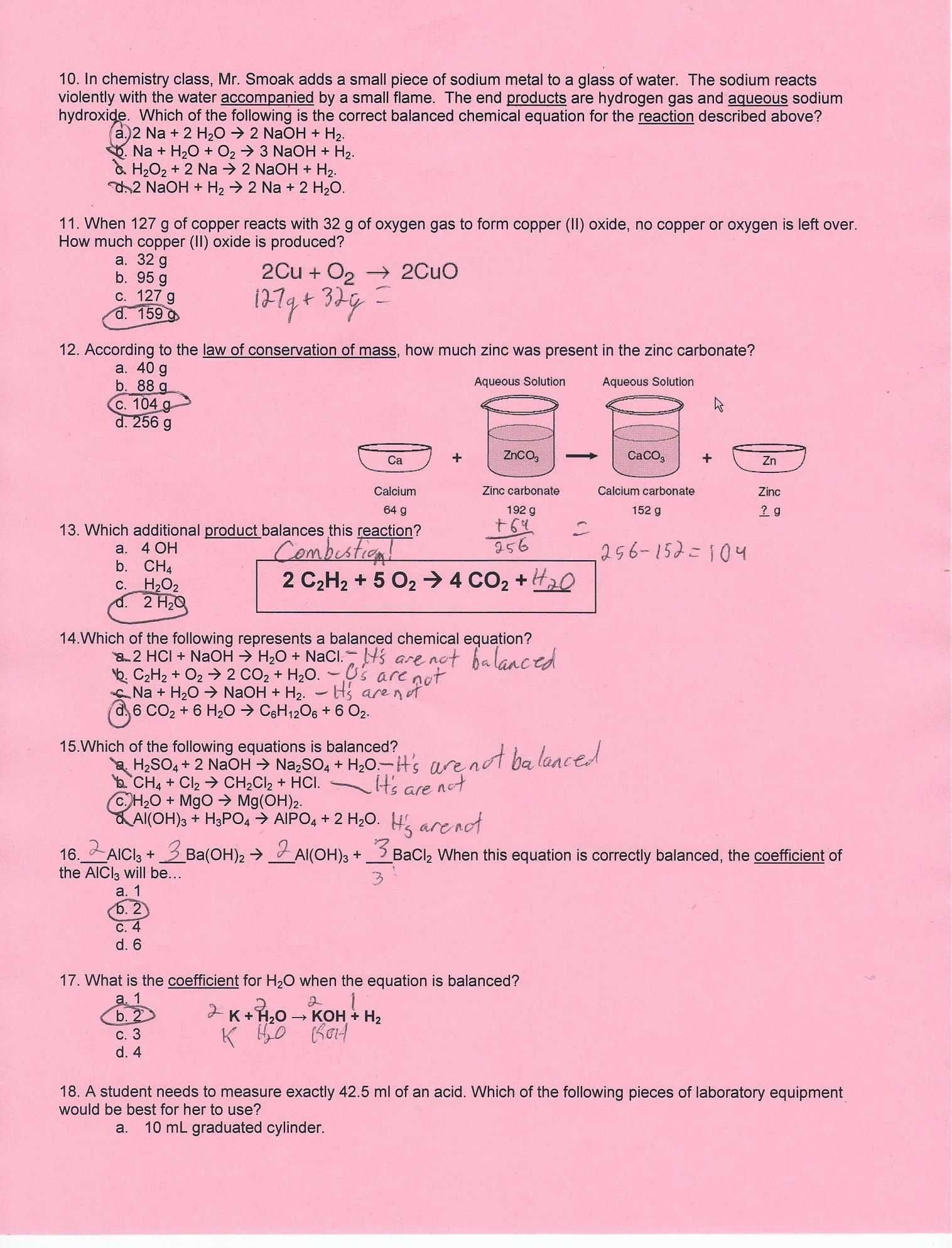 Chapter 15 Water And Aqueous Systems Worksheet Answers