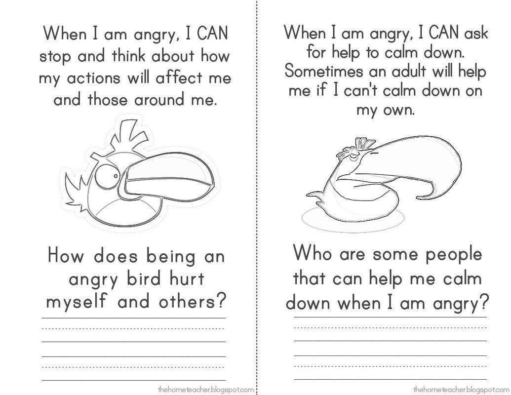 Child Anger Management Worksheets