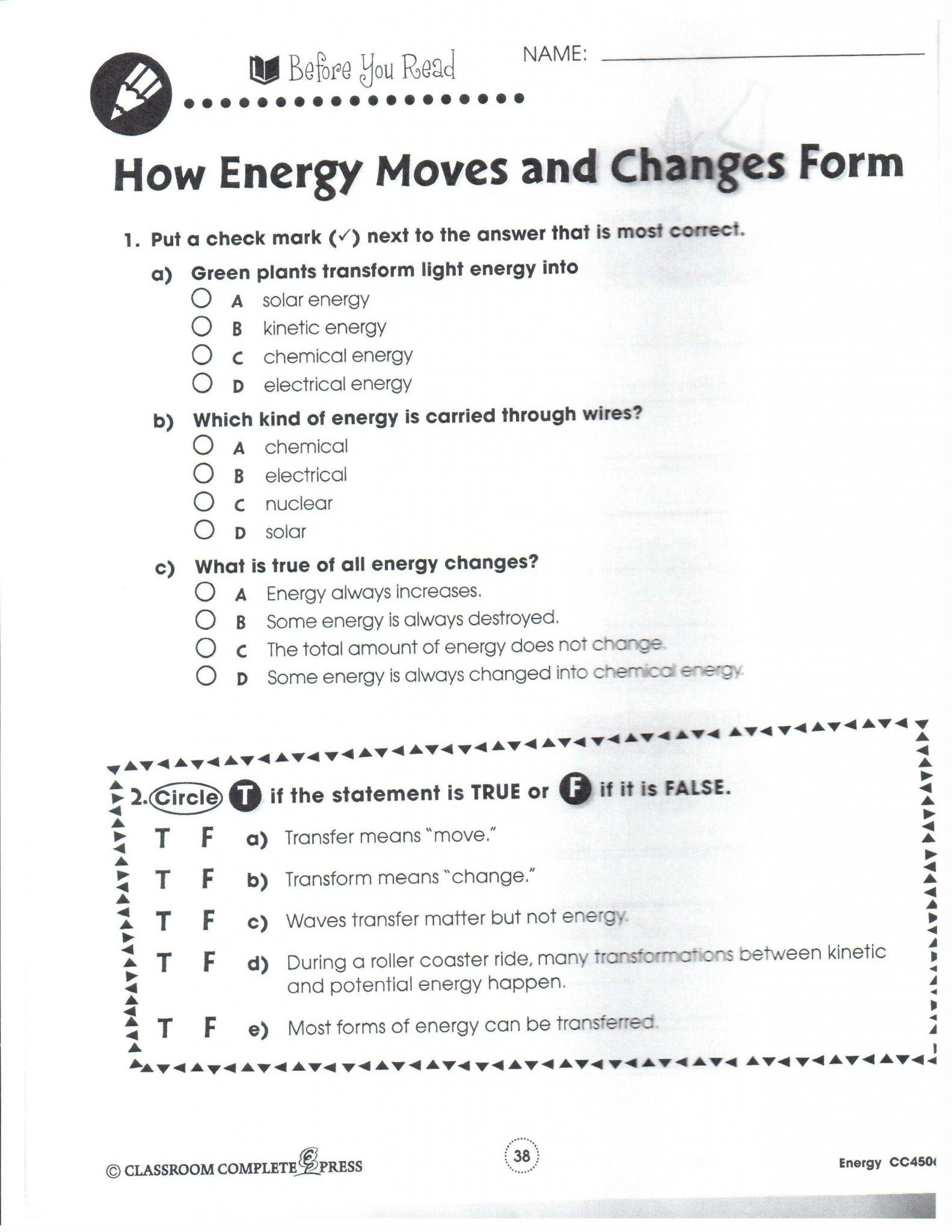 Classification Of Matter Worksheet Answer Key