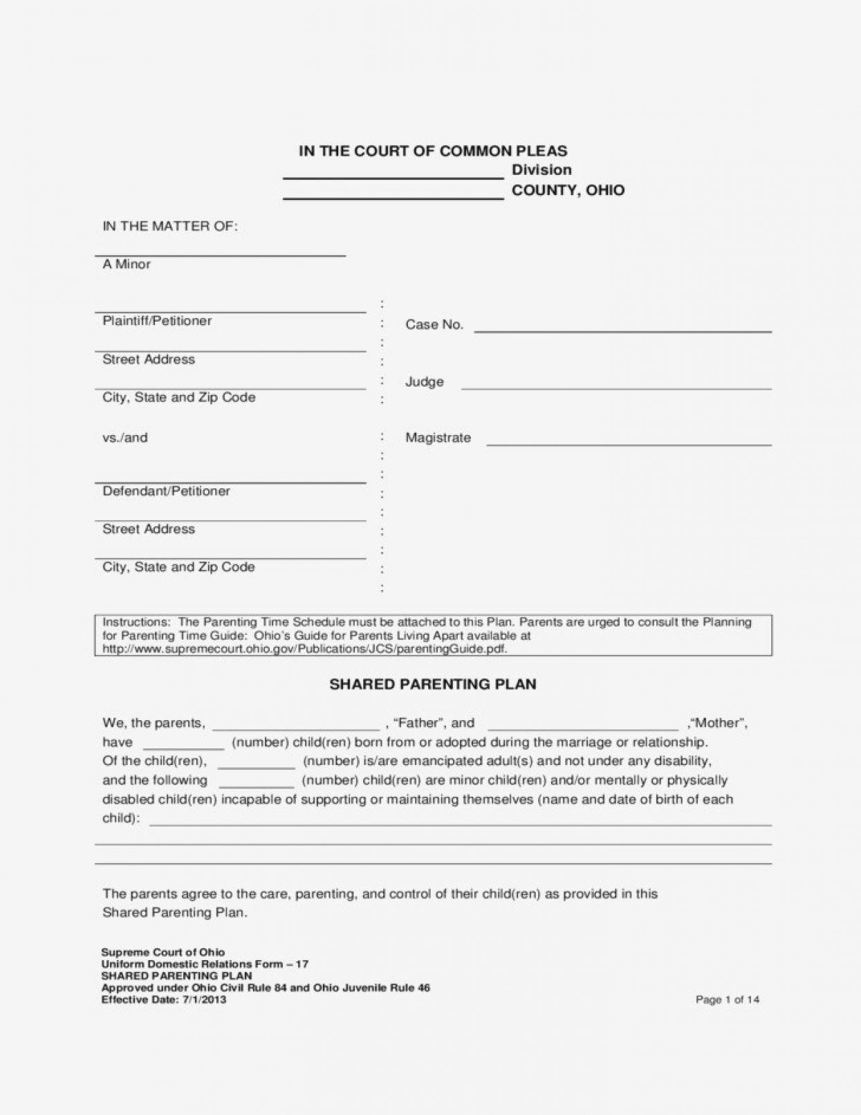 Co Parenting Worksheets
