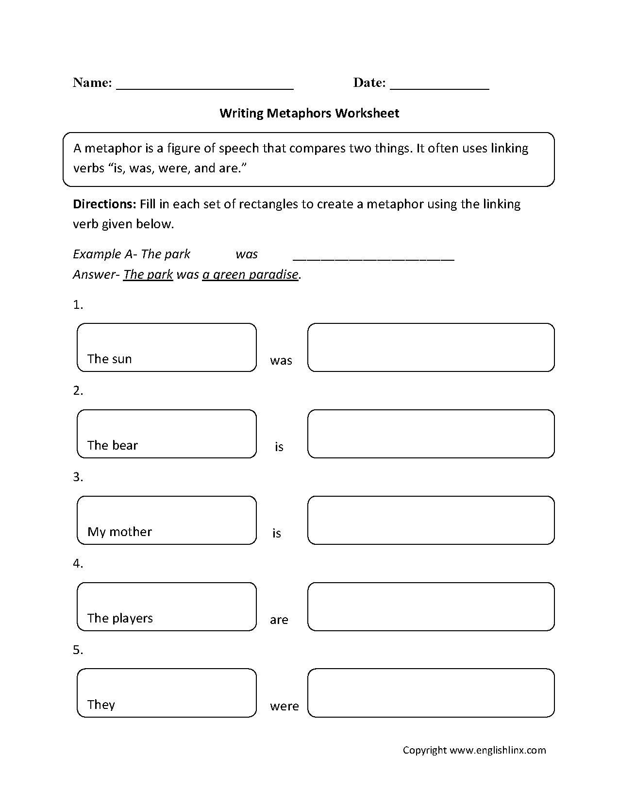 Connotation And Denotation Worksheets For Middle School