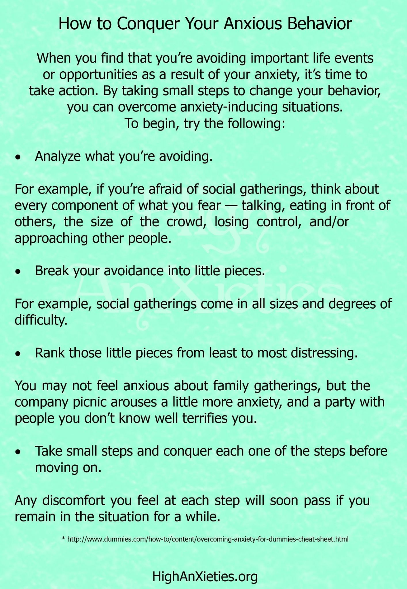 Coping Skills For Anxiety Worksheets