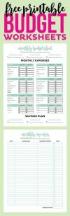 Get your finances in order with these Simple Printable Bud worksheets Includes monthly bud and