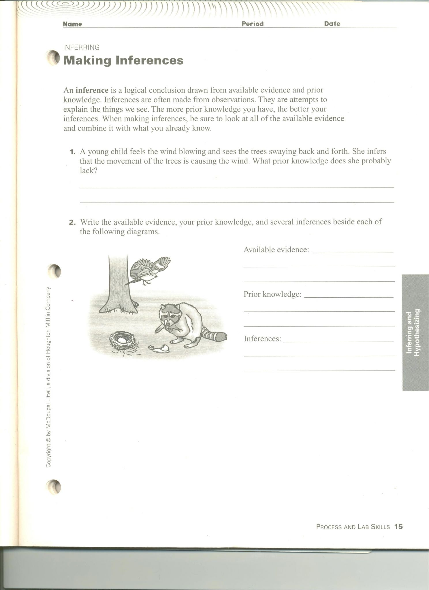Critical Thinking Skills Worksheet