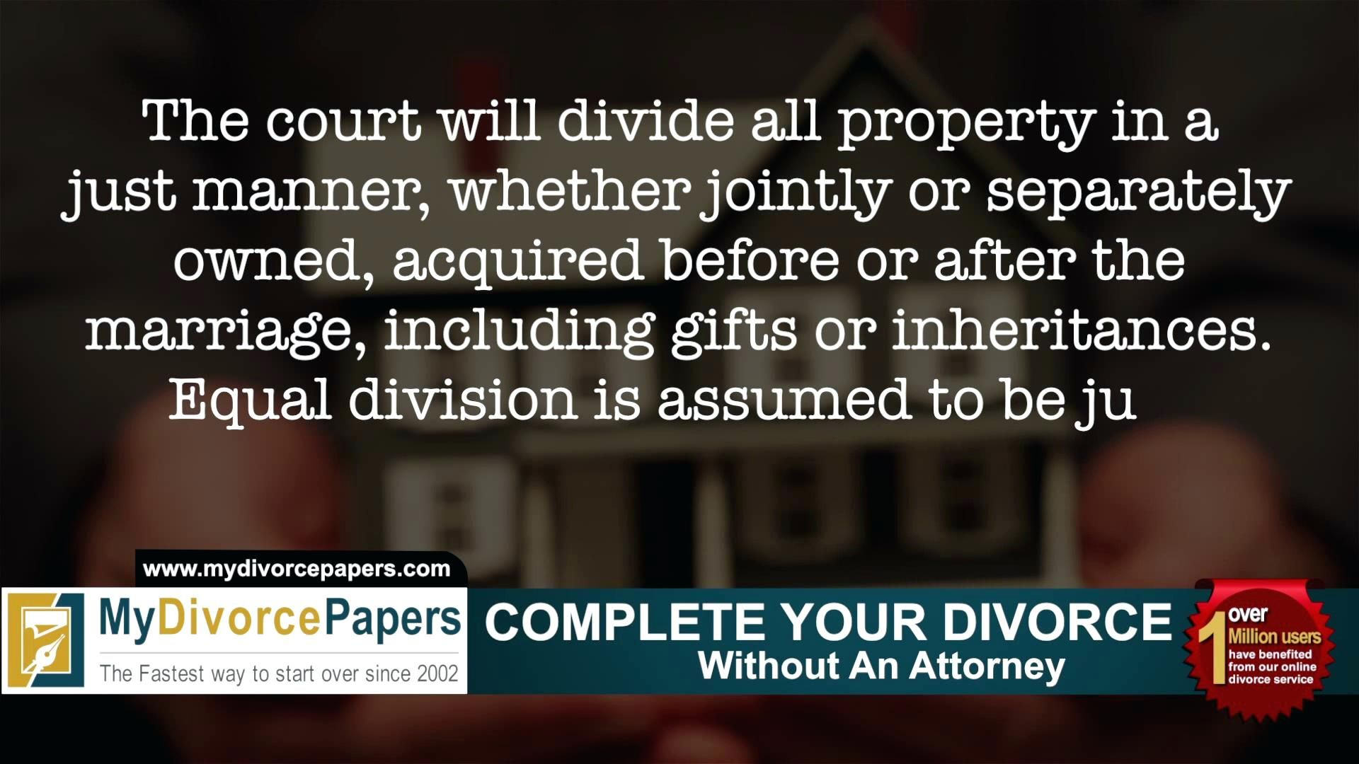 Division Of Assets In Divorce Worksheet