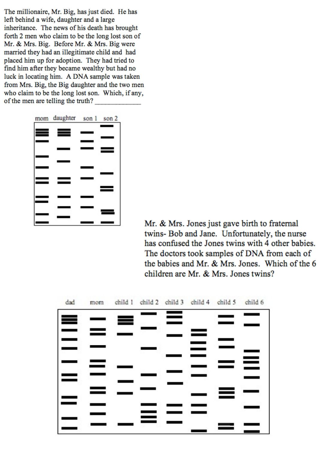 Dna Fingerprinting Worksheet Answer Key