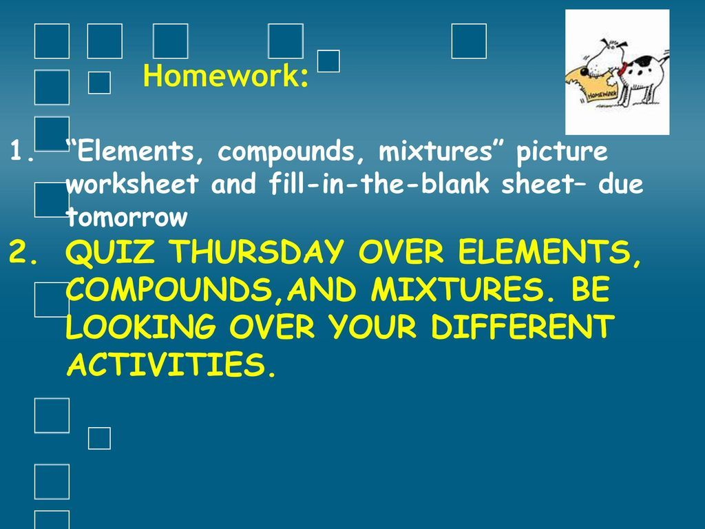 Elements Compounds And Mixtures Worksheet Answer Key