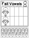 Fall Vowels worksheets This Fall Kindergarten Math and Literacy Worksheet Pack features so many diverse activities relating to beginning sounds