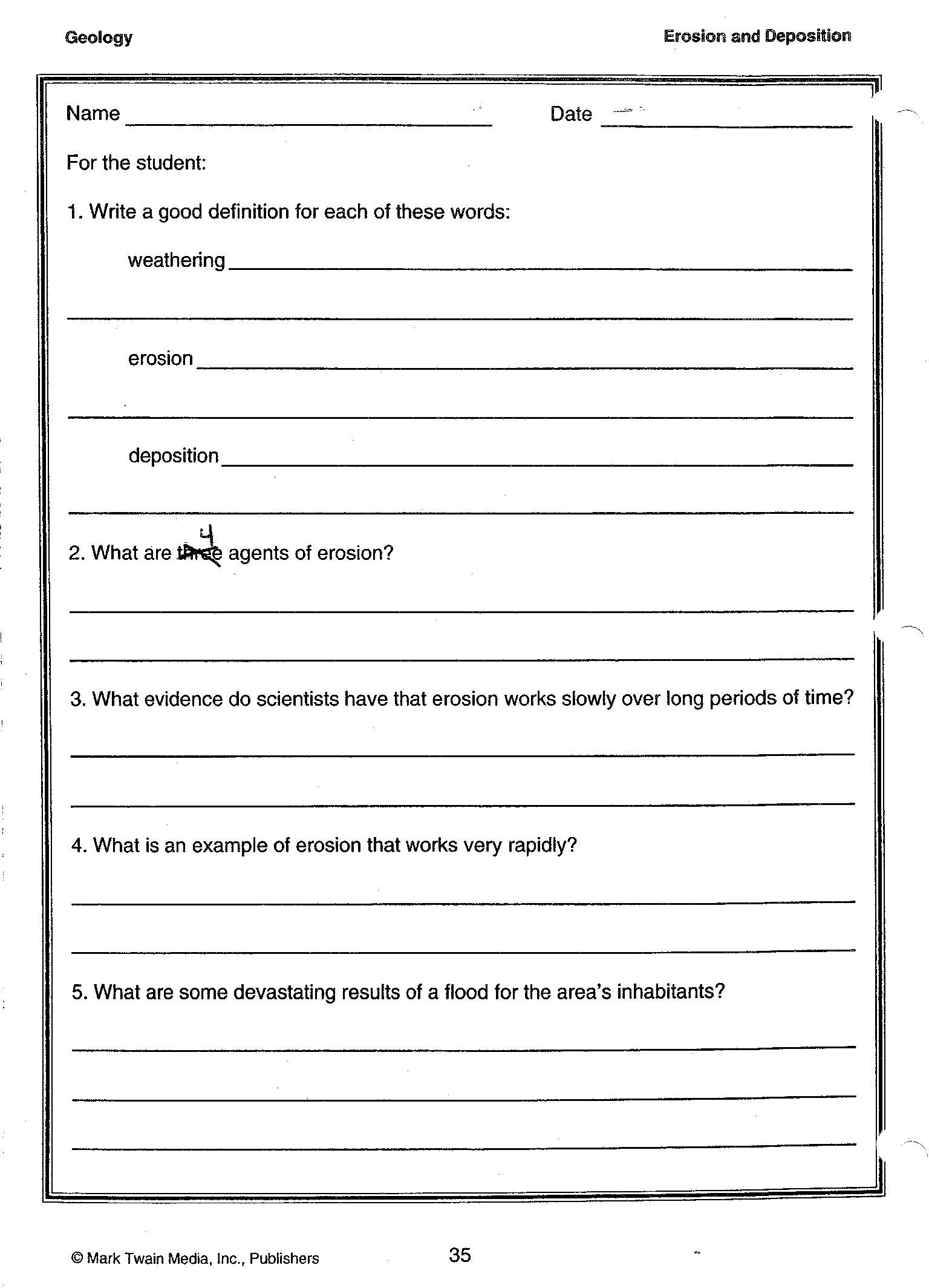 Environmental Science Worksheets For High School