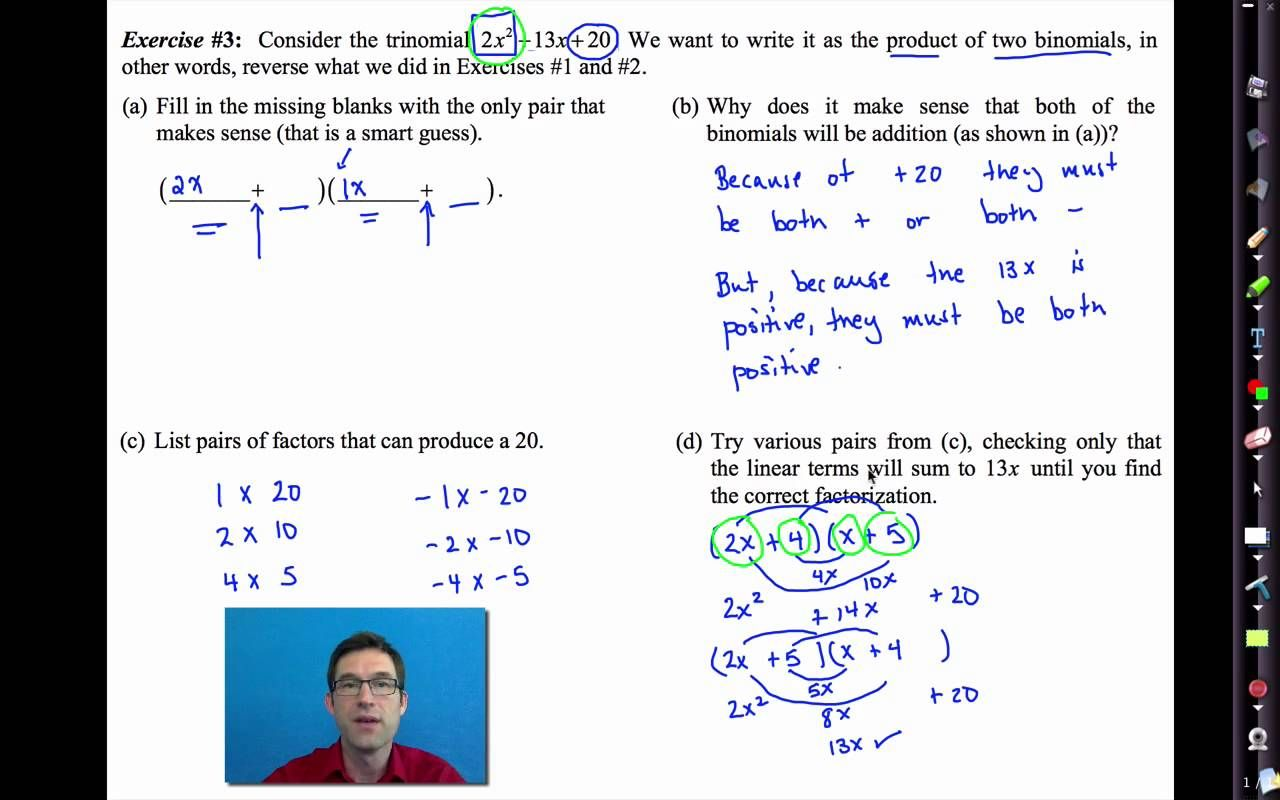 Factoring By Grouping Worksheet Algebra 2 Answers