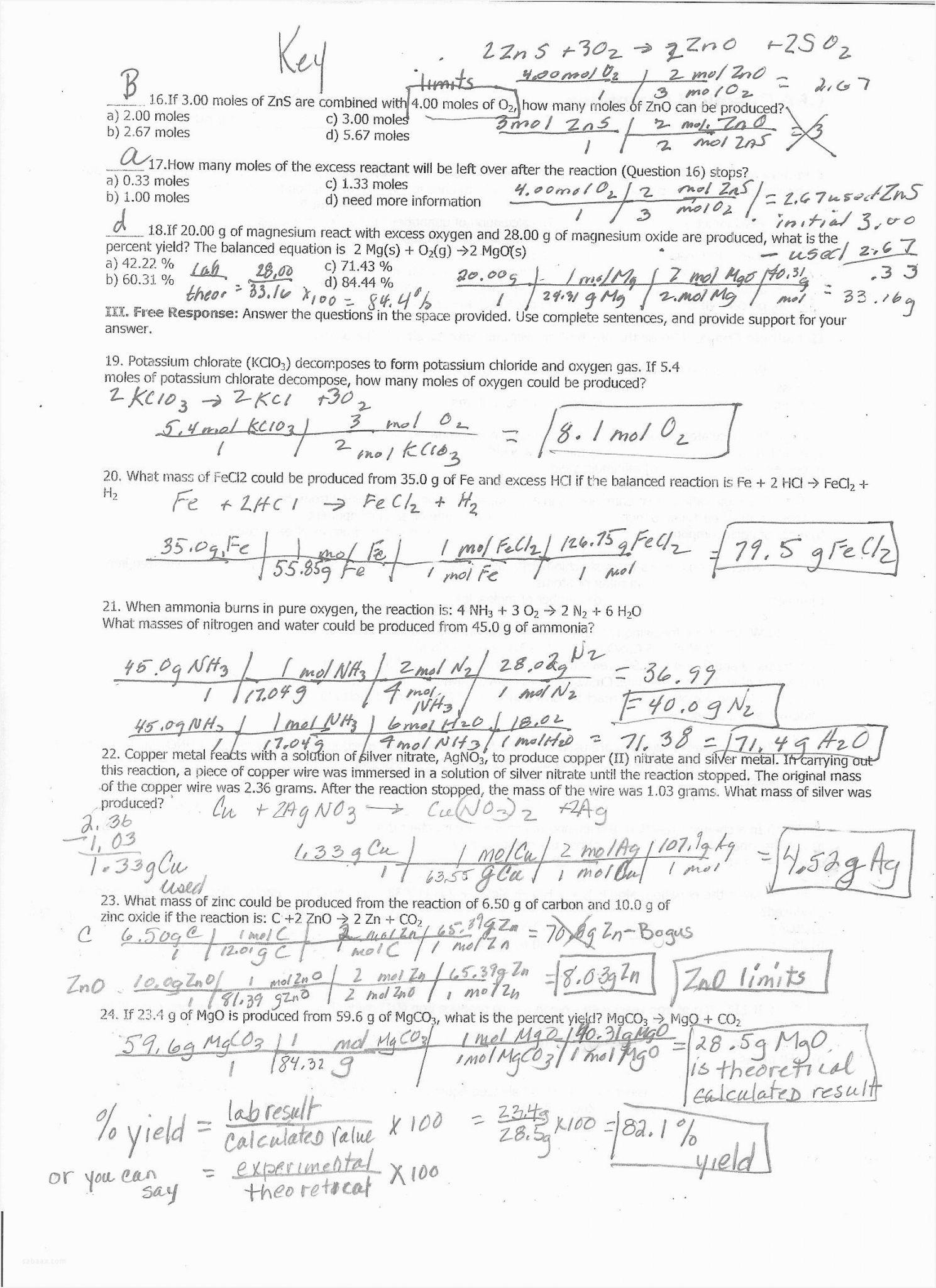 Gas Laws Practice Worksheet