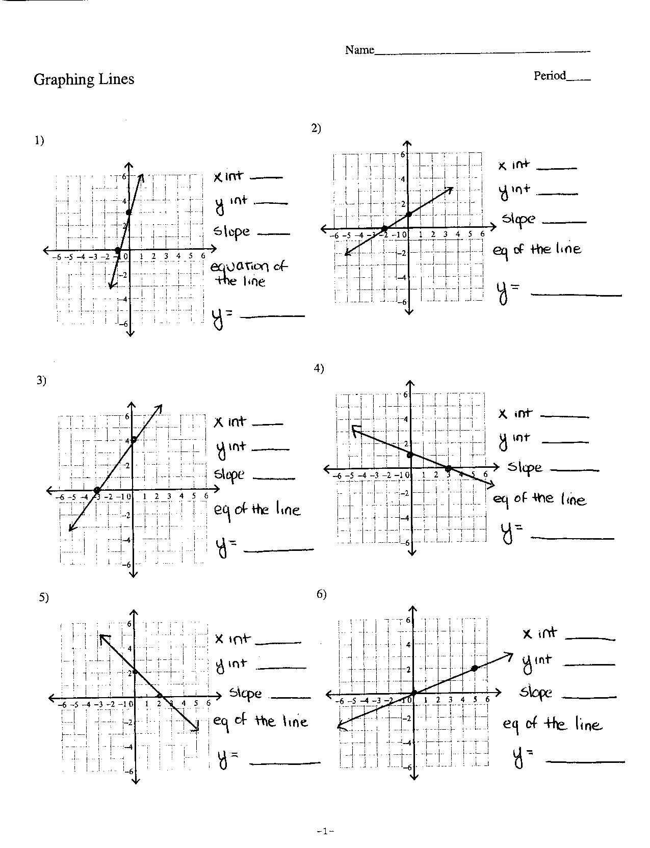 Graphing A Parabola From Vertex Form Worksheet Answers