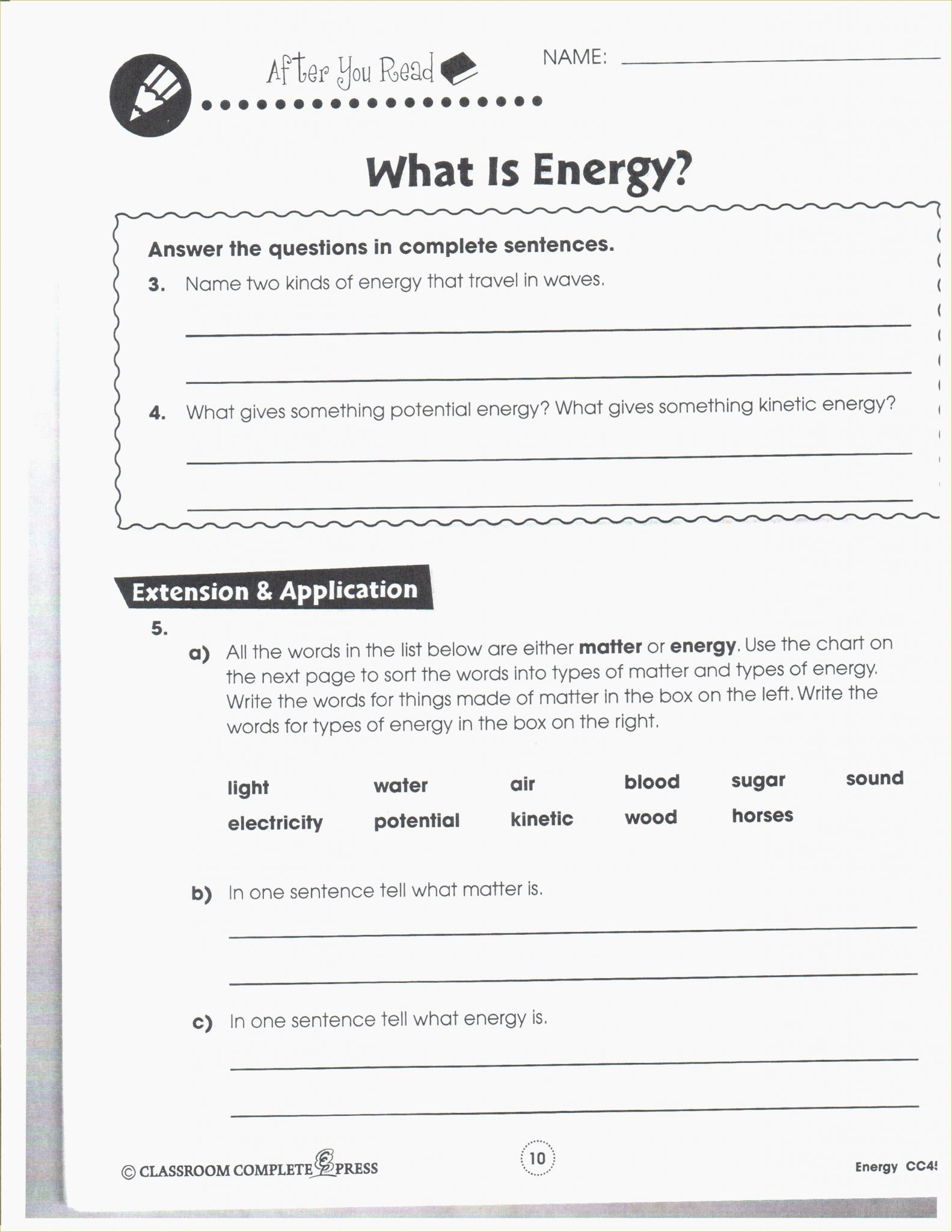 Gravitational Potential Energy Worksheet With Answers