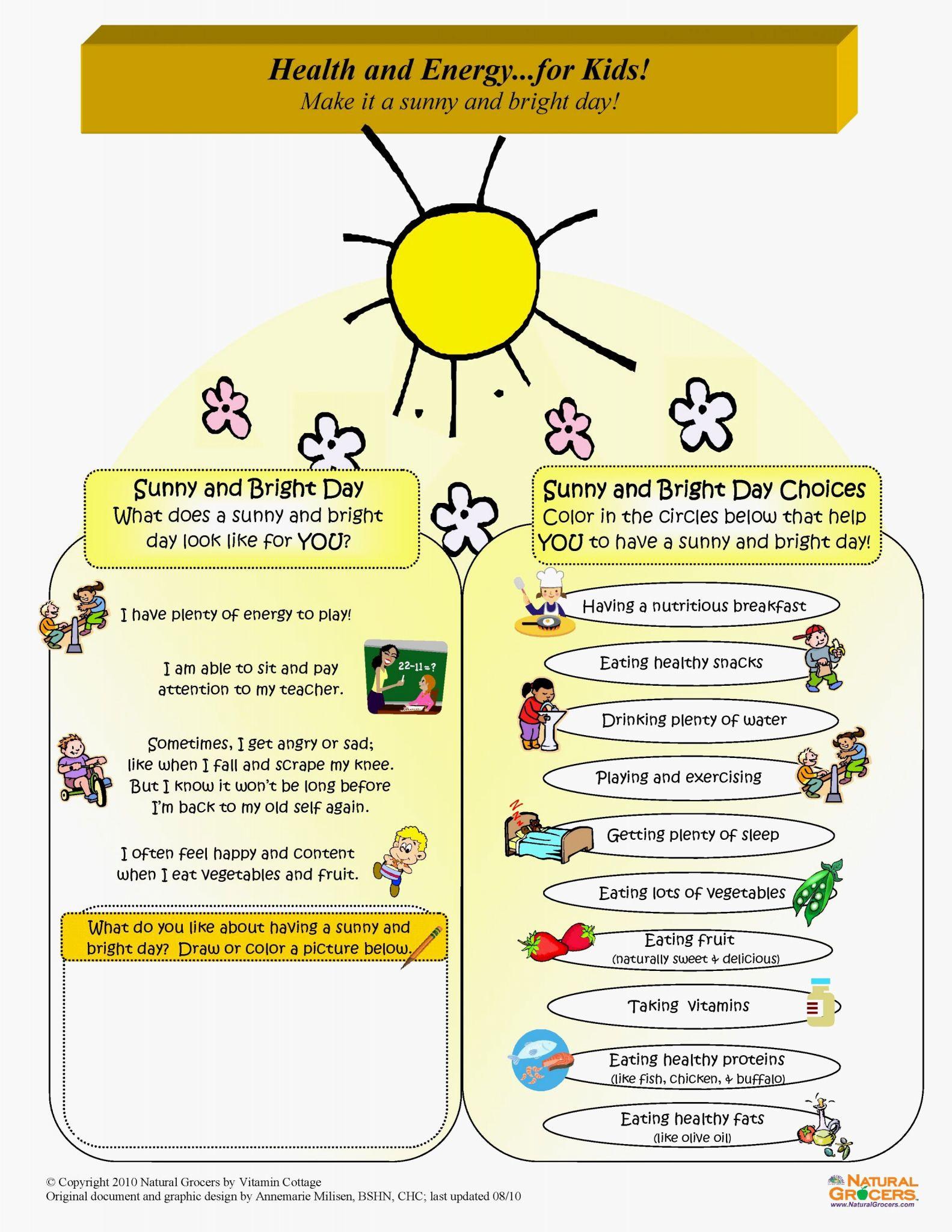 Health Triangle Worksheet