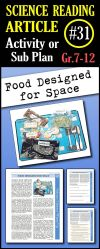 In this article students will learn about the challenges of designing food for astronauts