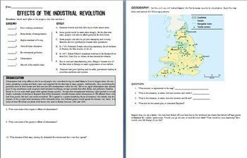 Industrialization And Nationalism Worksheet Answers