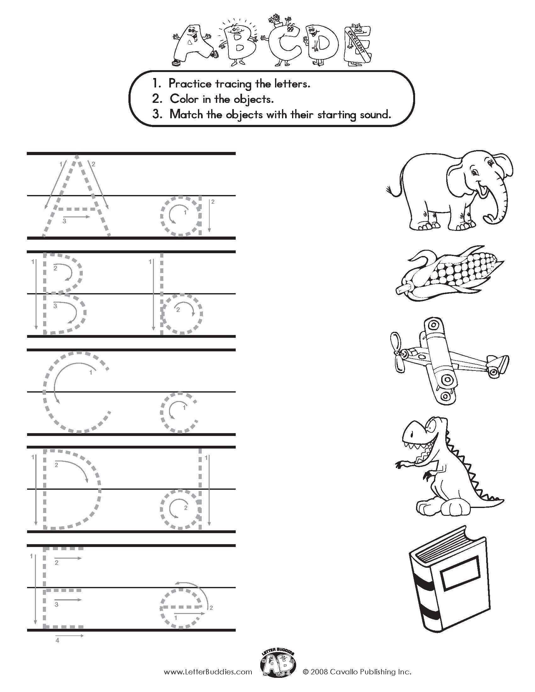 Kindergarten Mandarin Worksheet
