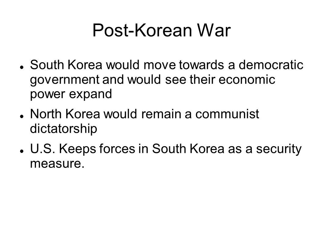 Korean War Worksheet