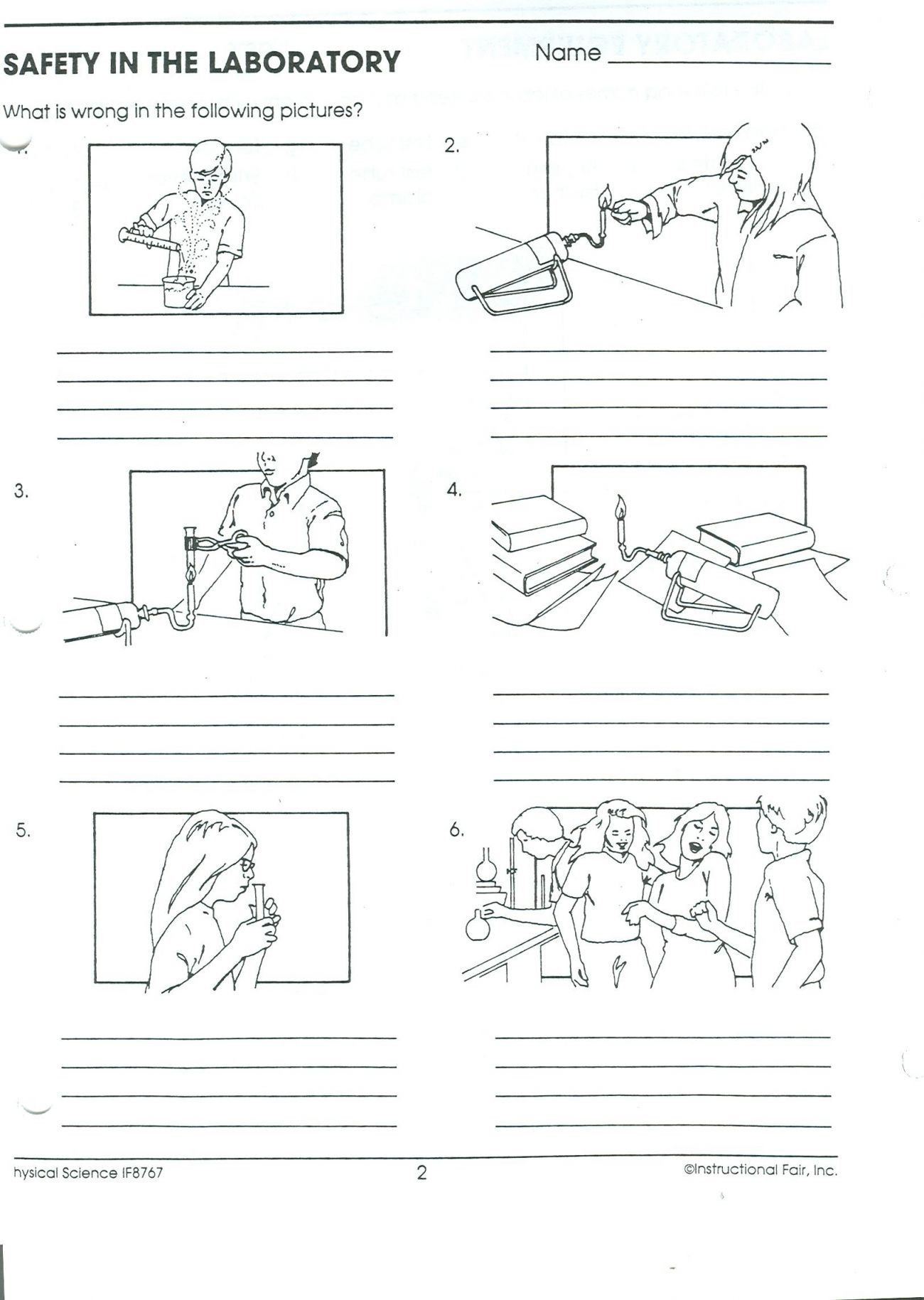 Safety In The Laboratory Worksheet Answers