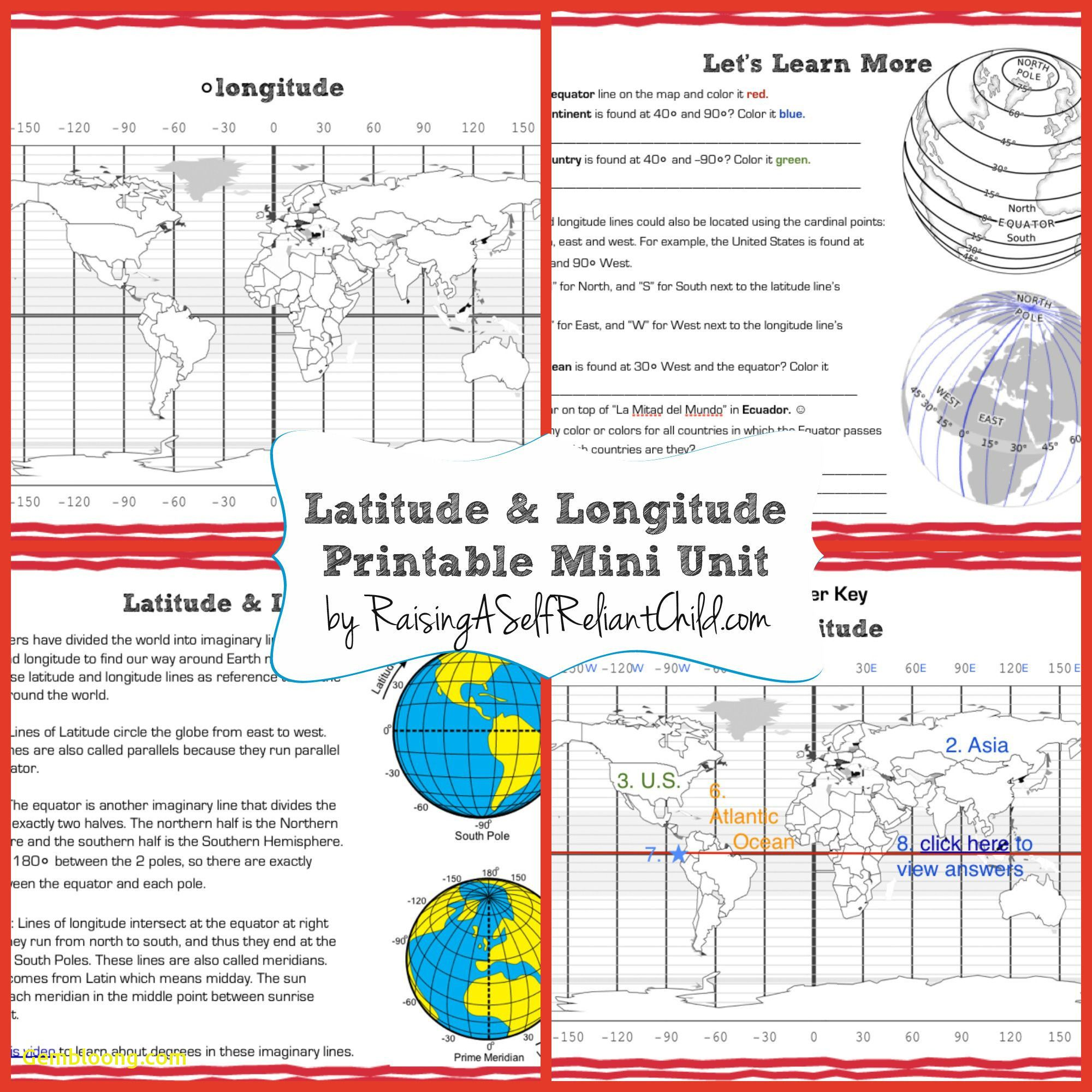 Latitude And Longitude Practice Worksheets