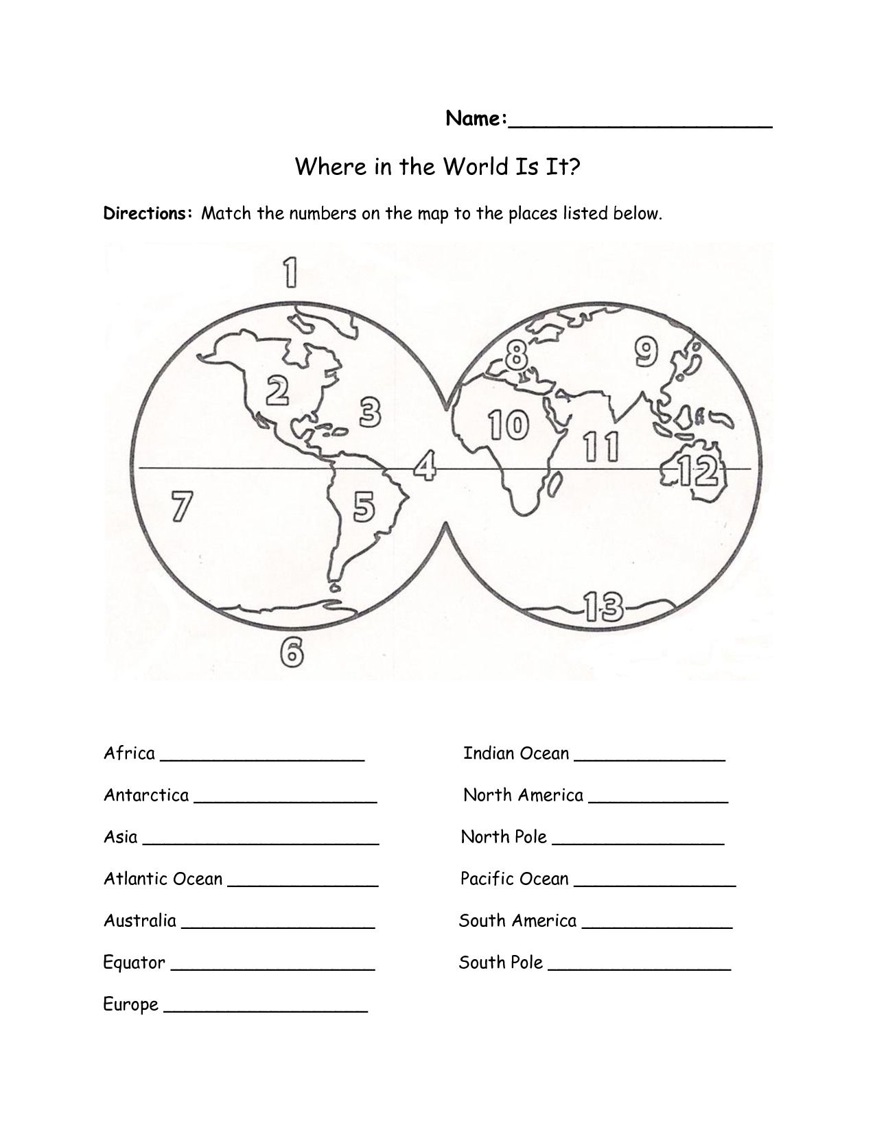 Latitude And Longitude Worksheets 7th Grade