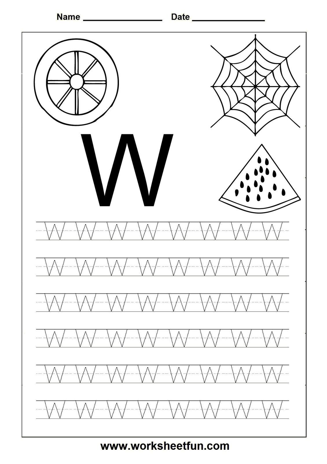 Letter A Tracing Worksheets Preschool