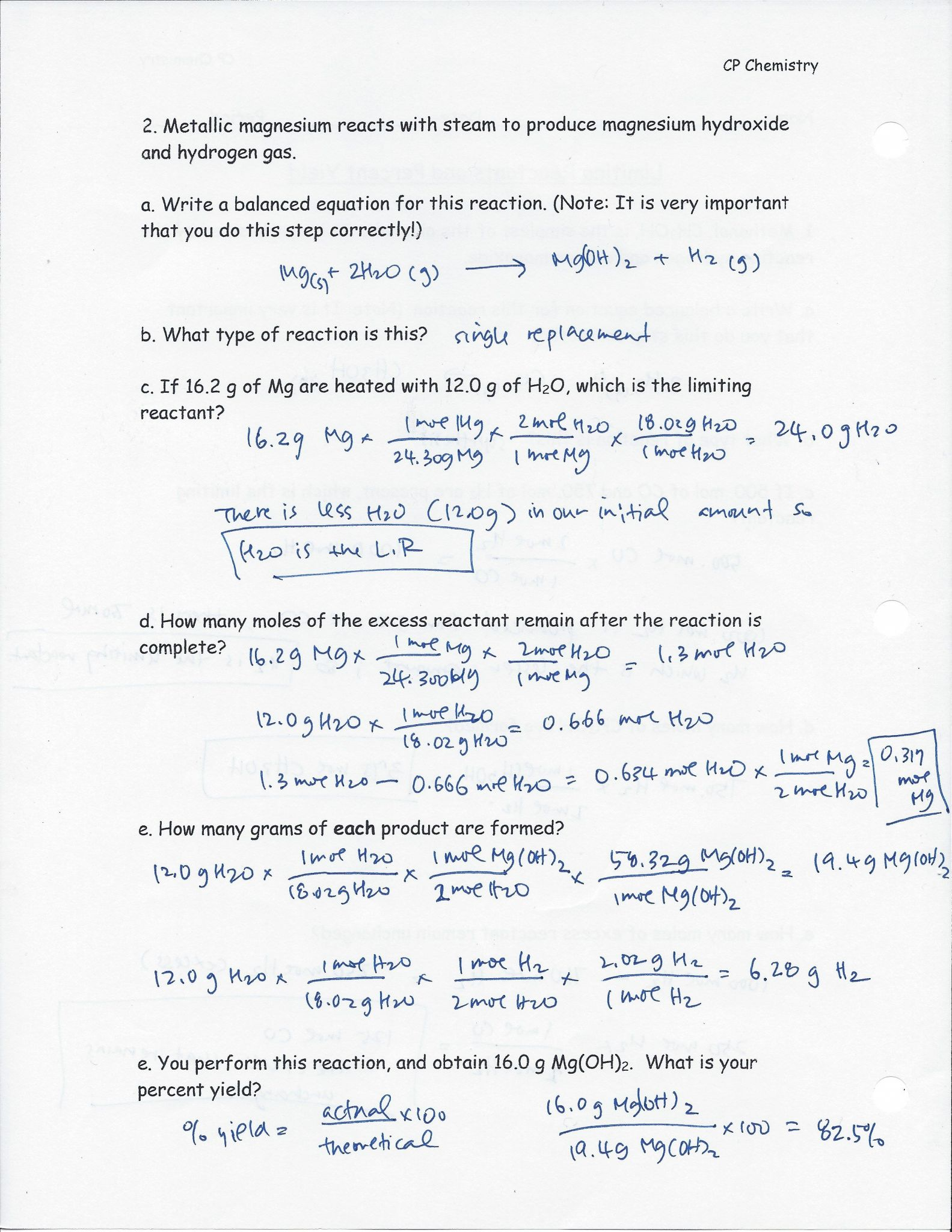 Percent Concentration Worksheet Chemistry Answers