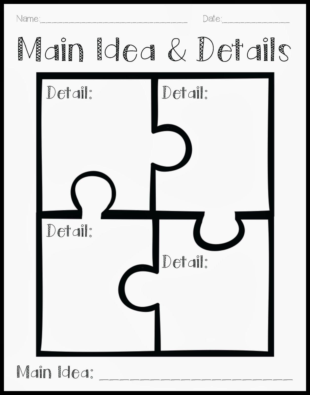 Main Idea Worksheets 2nd Grade