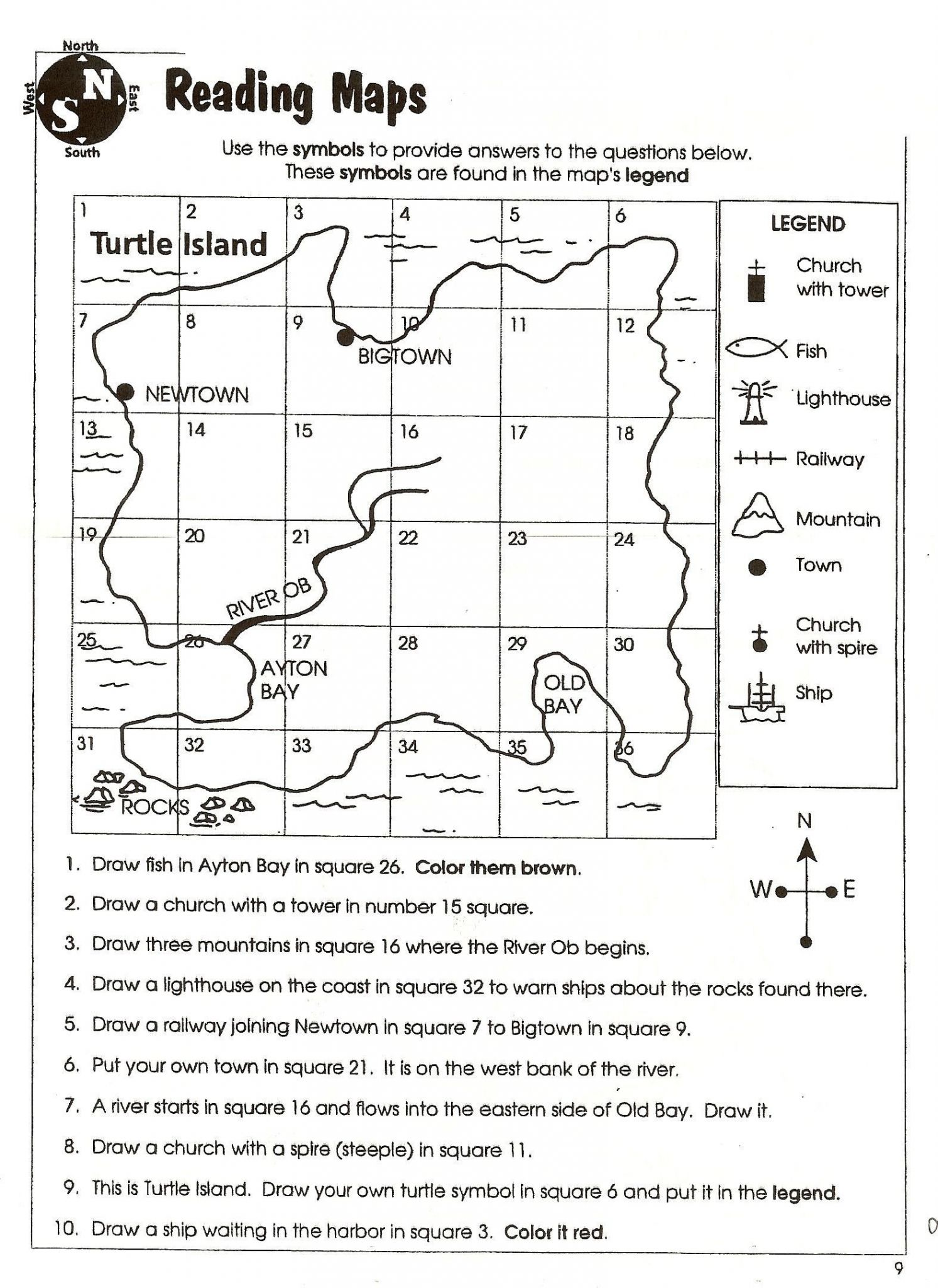 Map Skills Worksheets Middle School