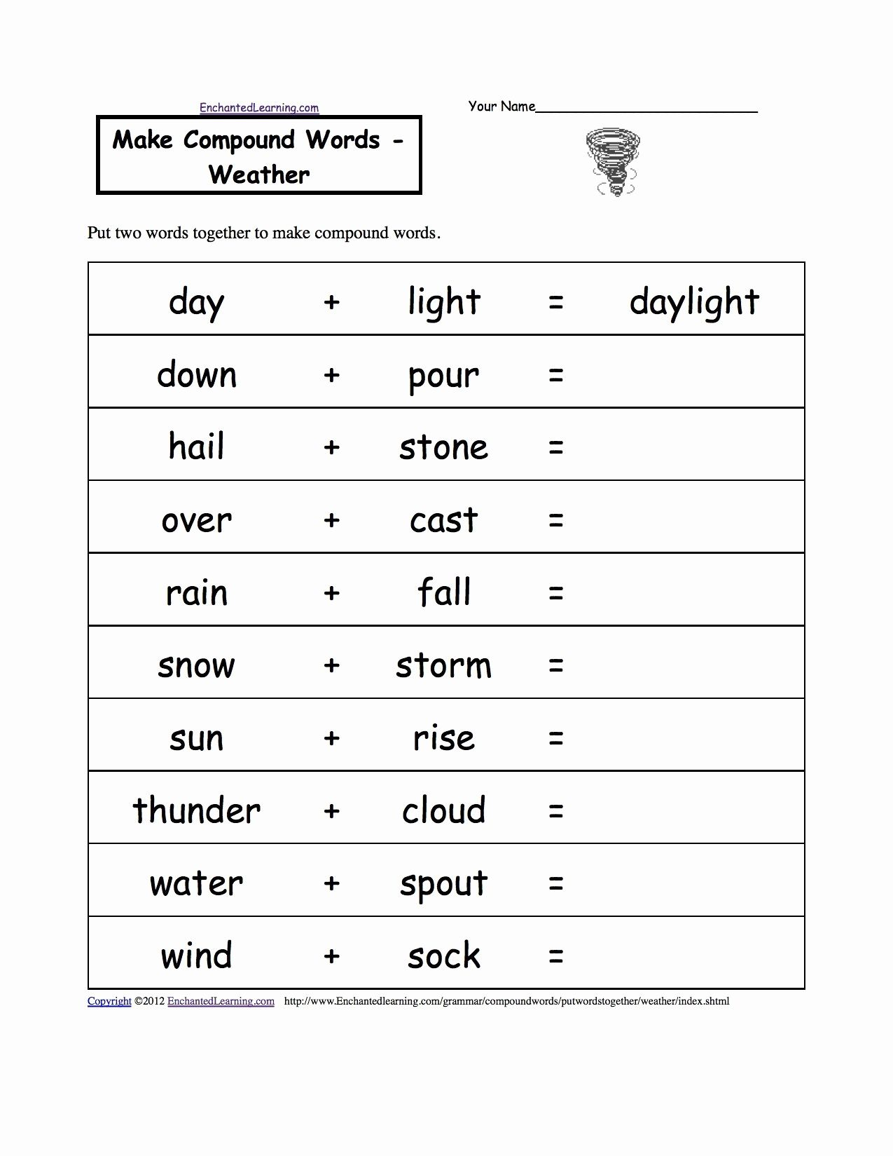 Second Grade Science Worksheets