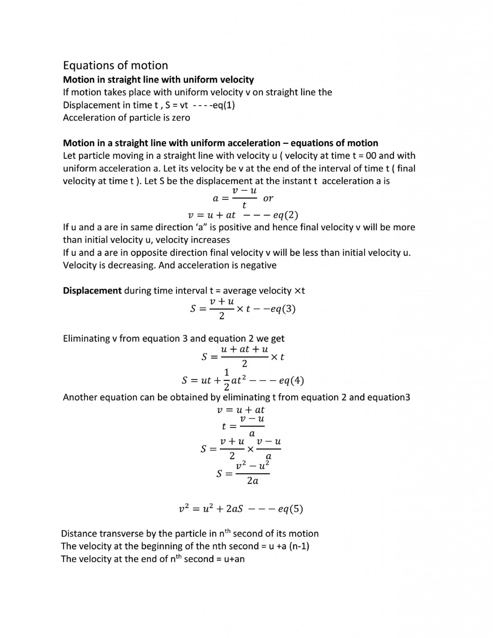 Motion In One Dimension Worksheet Answers