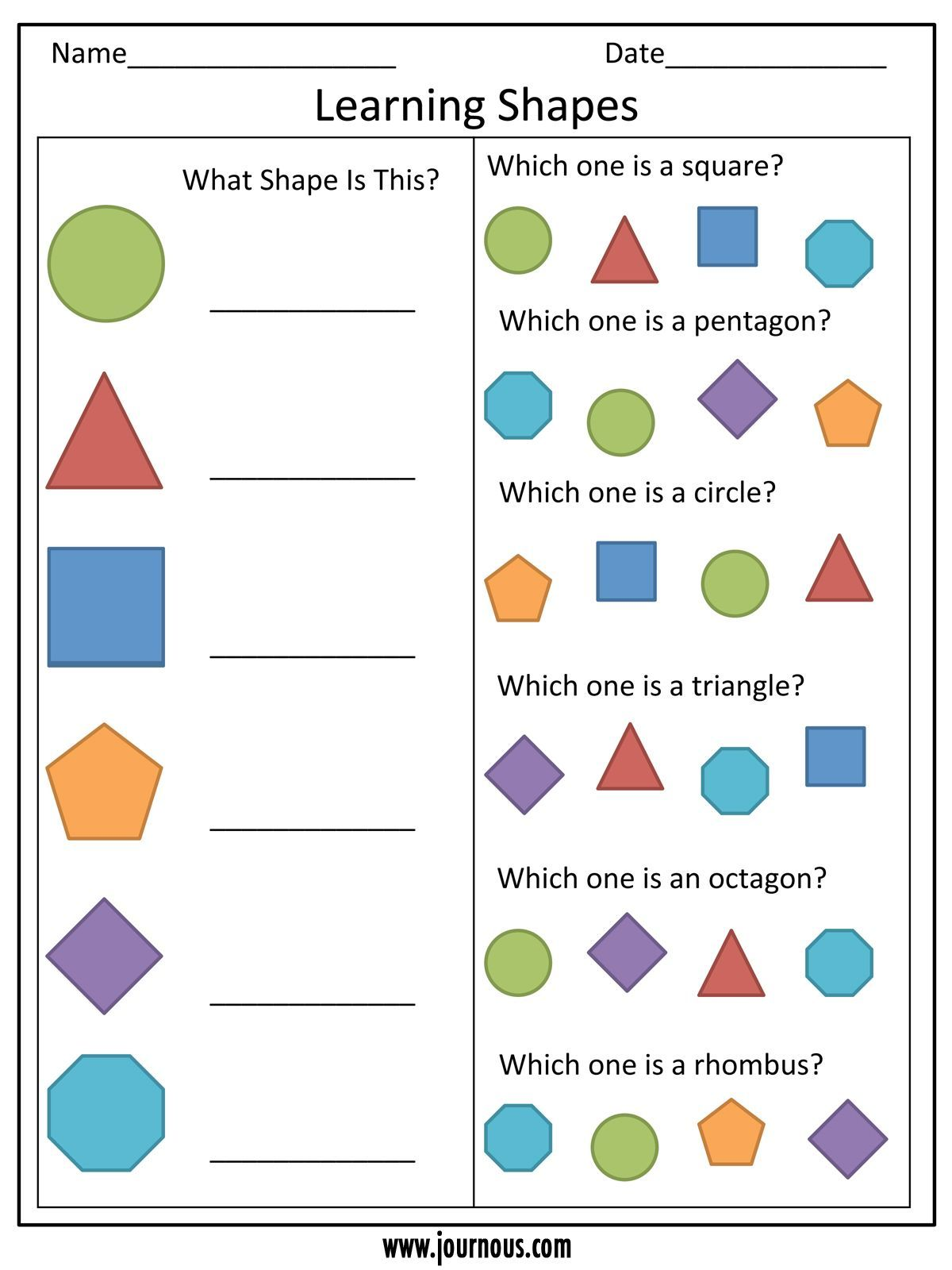 Mouse Party Worksheet