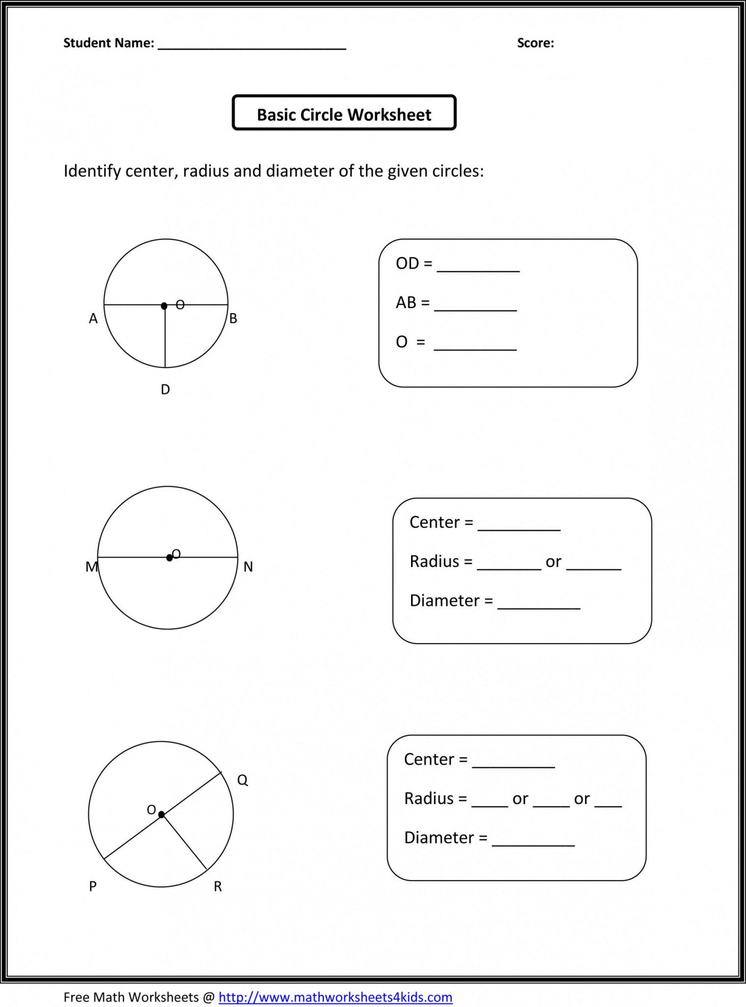 Moving Words Math Worksheet