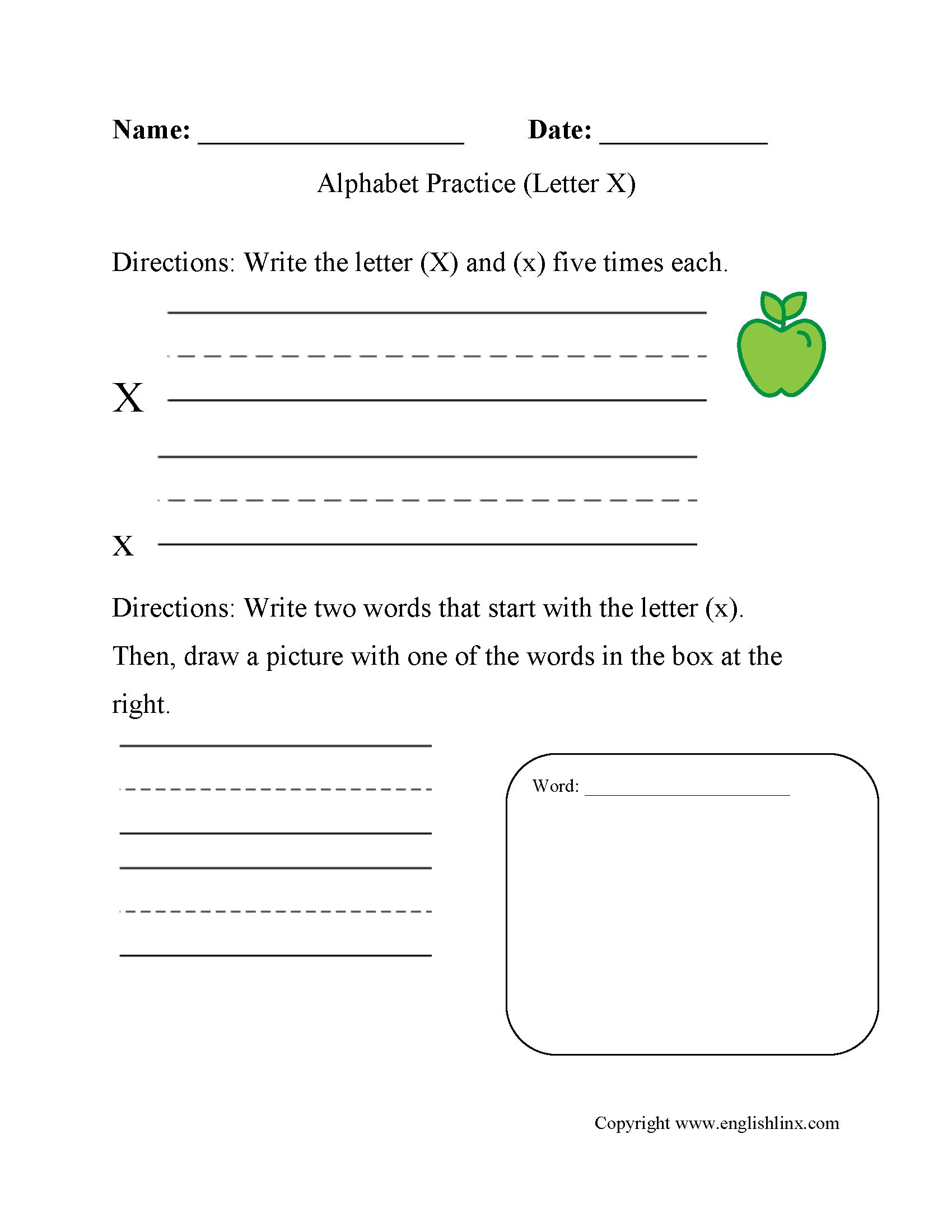 Name Writing Practice Worksheets