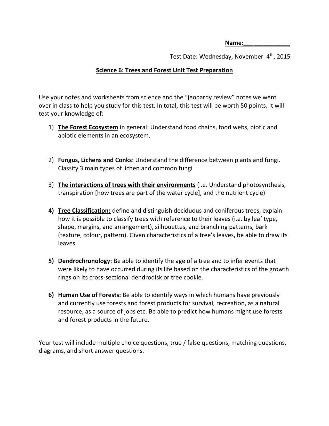 Nitrogen Cycle Worksheet Answer Key