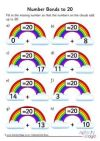Rainbow number bonds worksheet to 20 More Number Bonds To 20 Number Bonds Worksheets