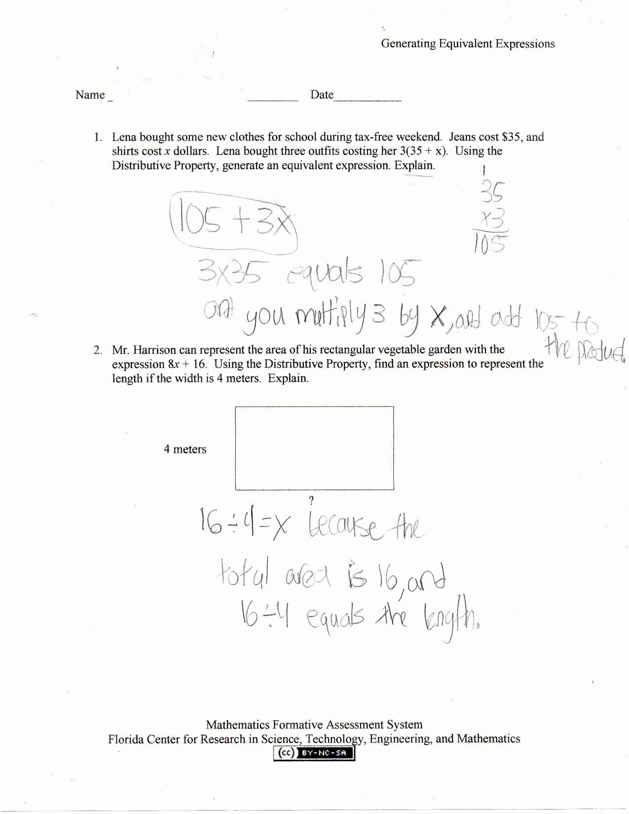 Order Of Operations Worksheet 7th Grade