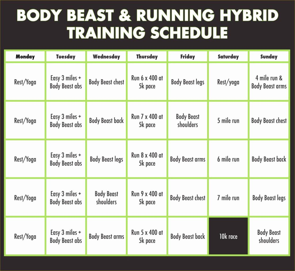P90x Legs And Back Worksheet