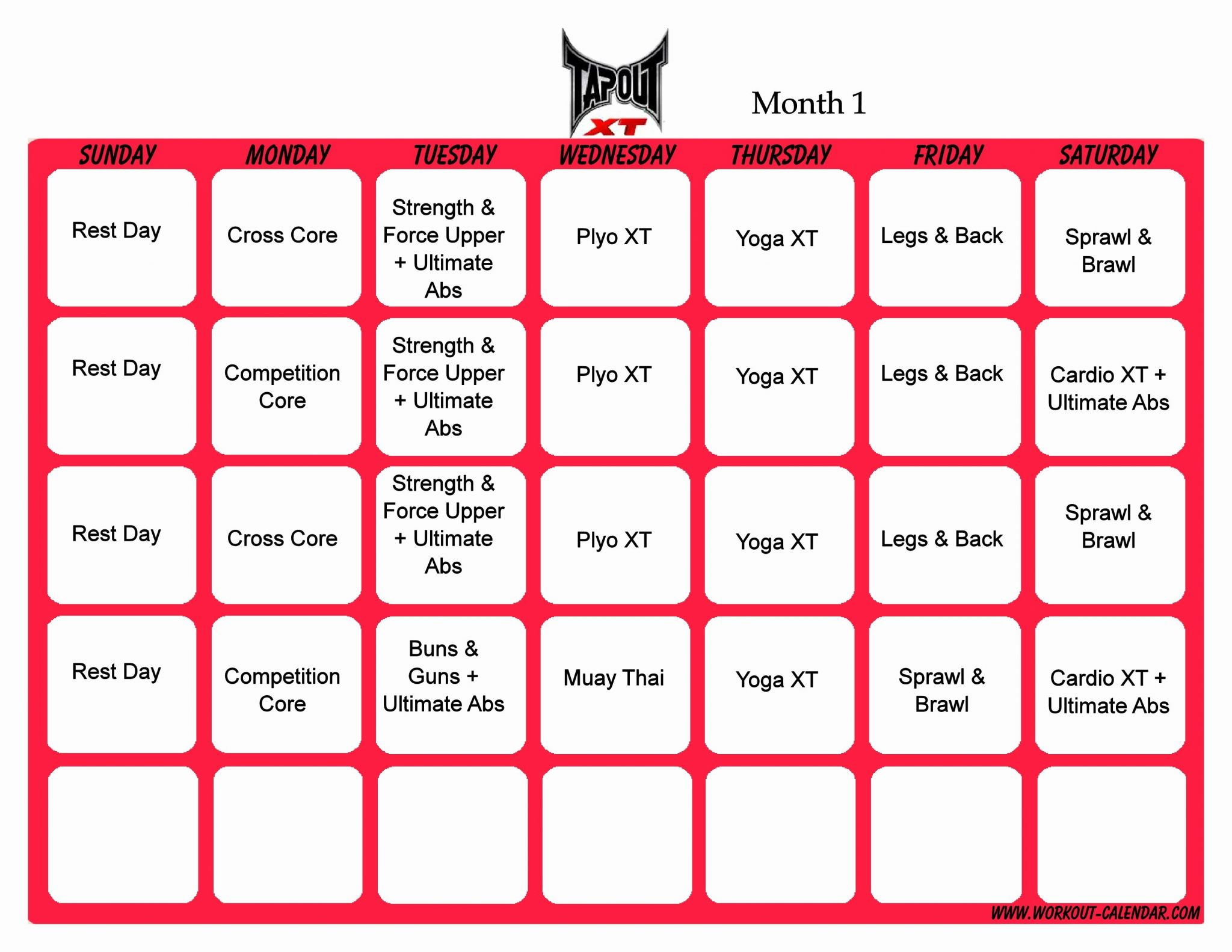 P90x Shoulders And Arms Worksheet