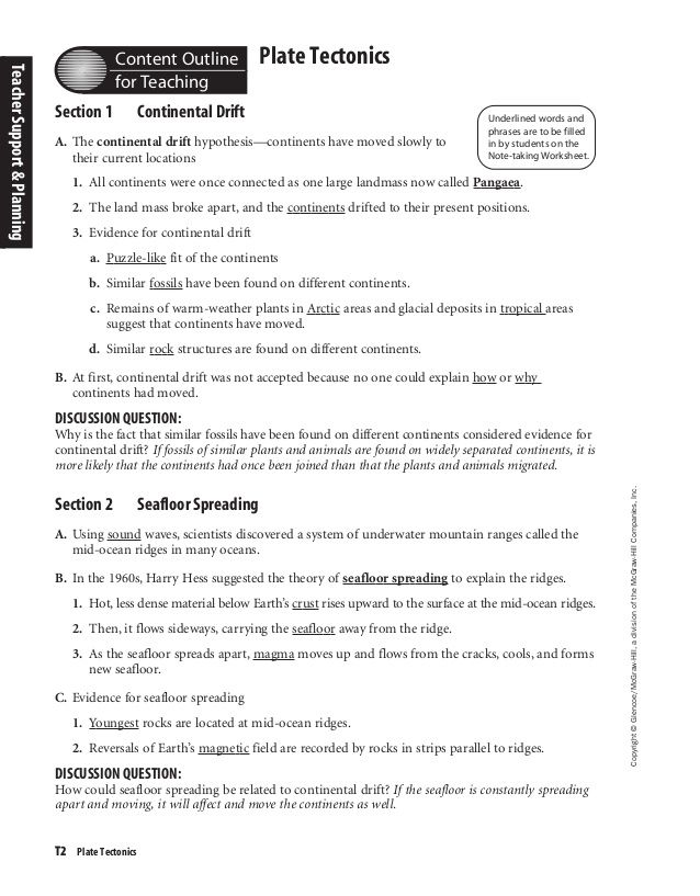 Pangea Worksheet Answers