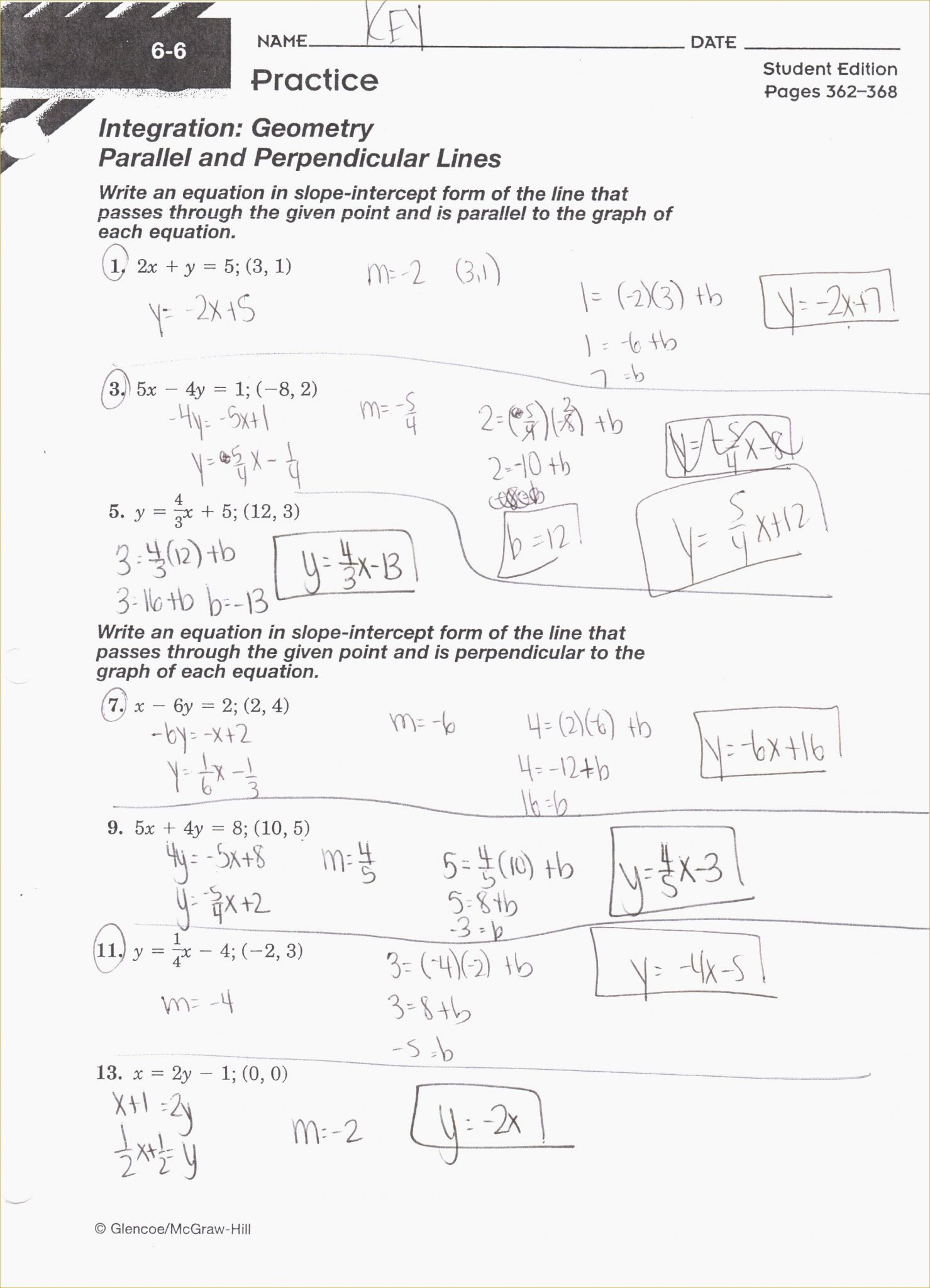 Parallel Perpendicular And Intersecting Lines Worksheet
