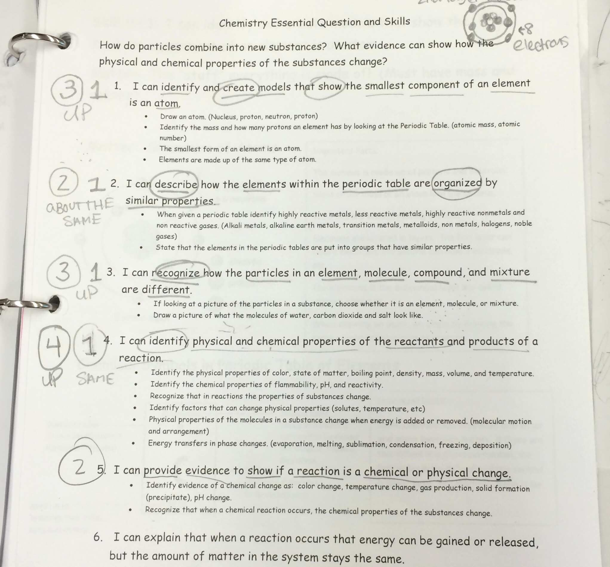 Physical And Chemical Properties Worksheet Answers