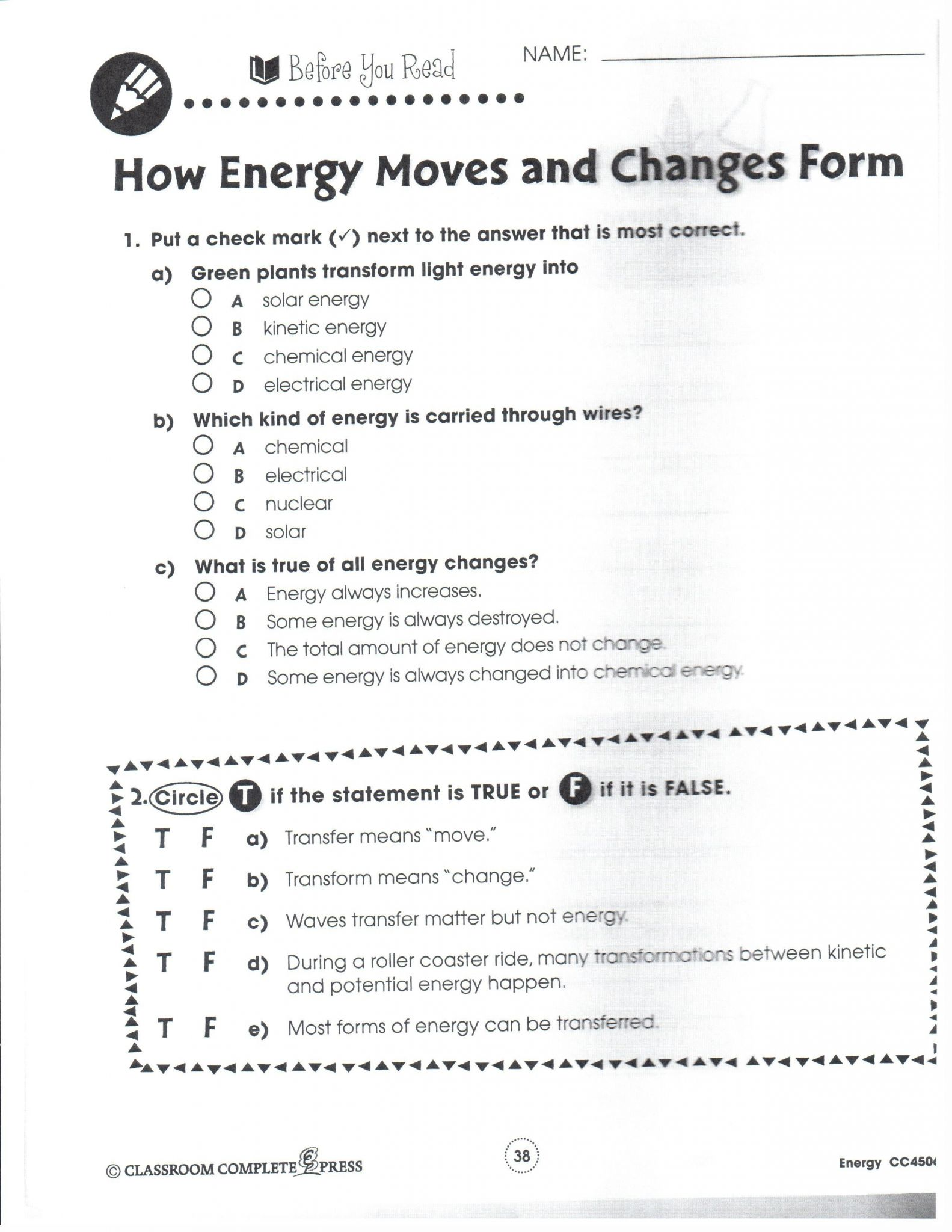 Potential Energy Problems Worksheet