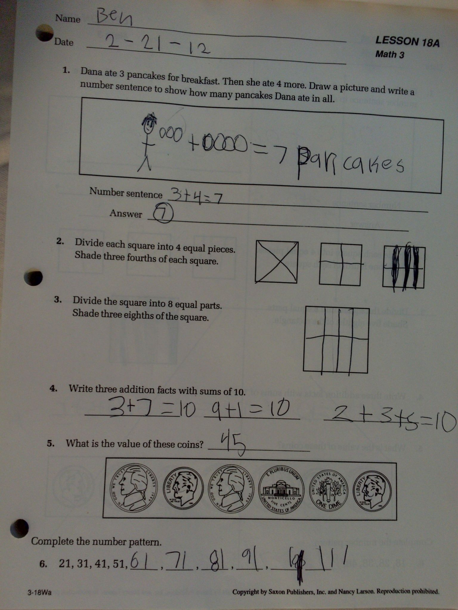 Pre Algebra Worksheets With Answer Key
