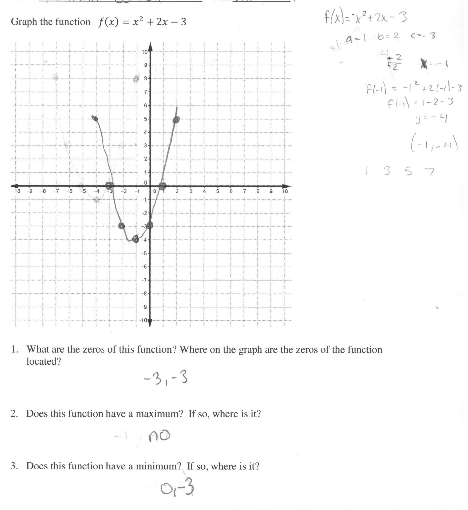 Pre Calc Worksheet Real Zeros Of Polynomials