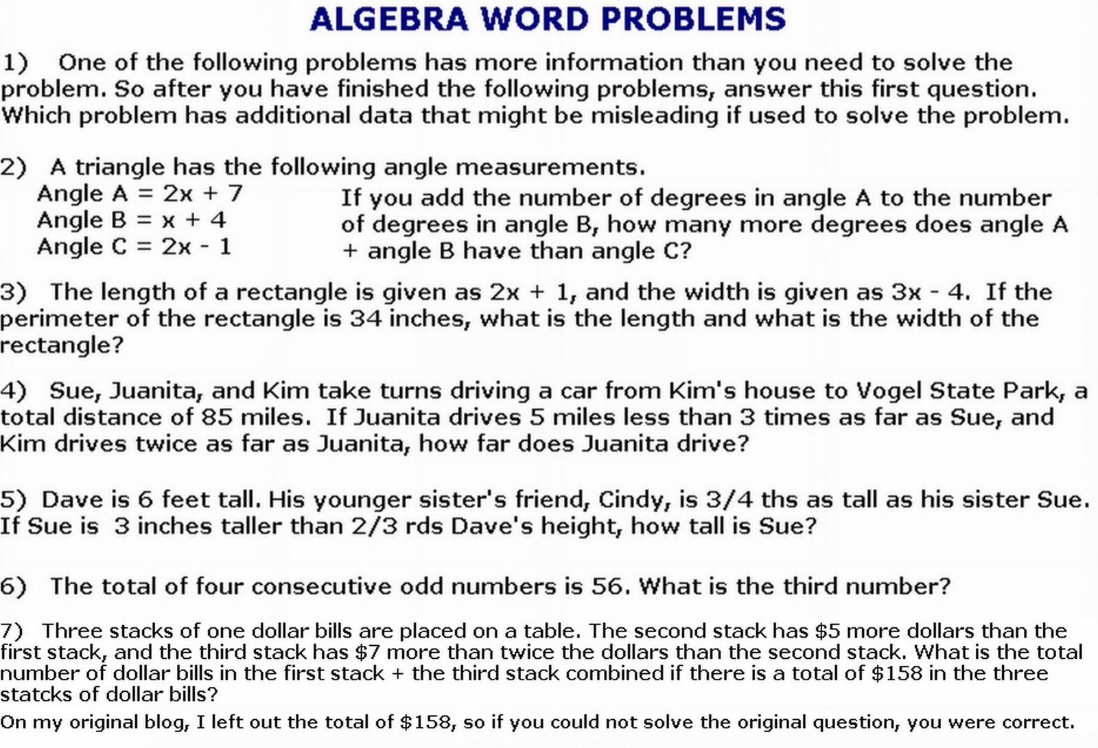 Pre Ged Math Worksheets