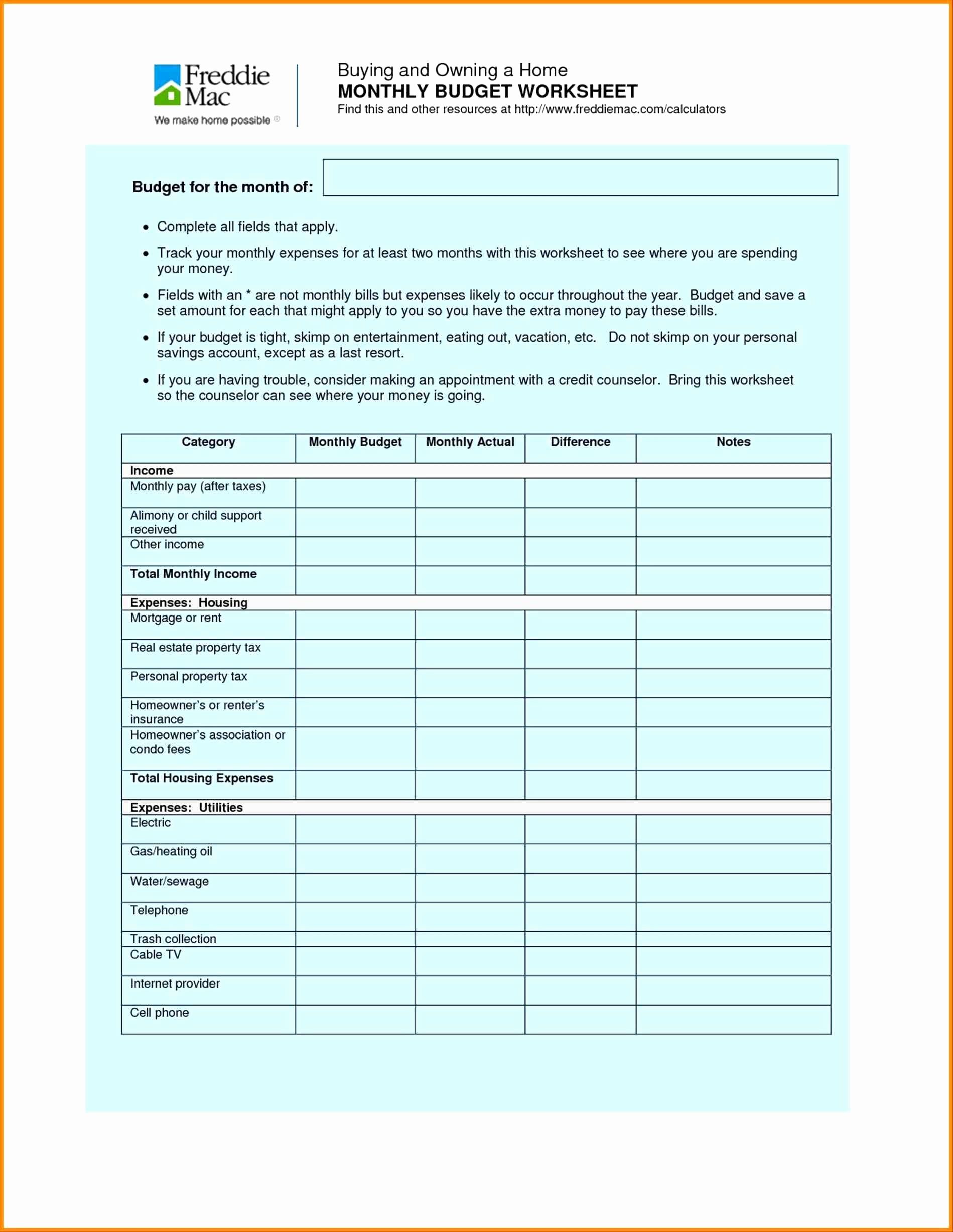 Dave Ramsey Home Budget Worksheet Printable Worksheets And Activities For Teachers Parents Tutors And Homeschool Families