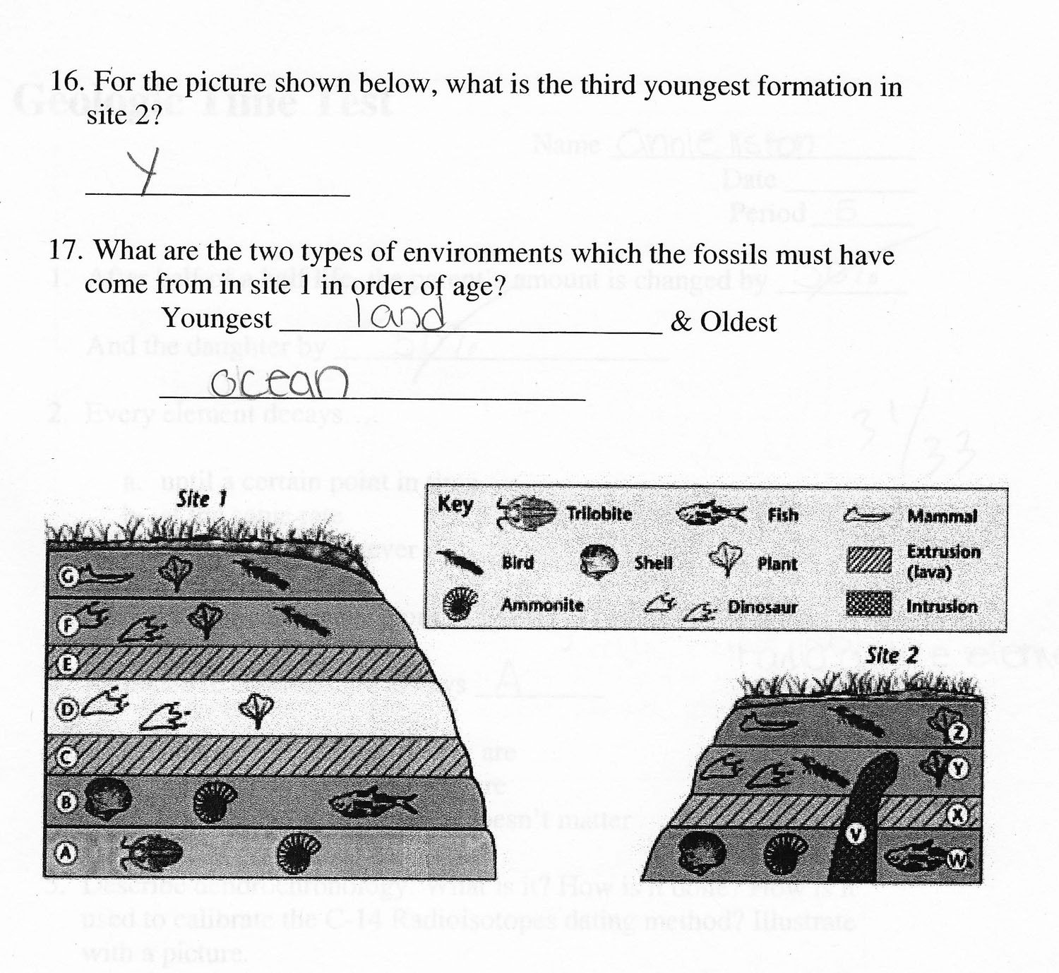 Relative Ages Of Rocks Worksheet Answers