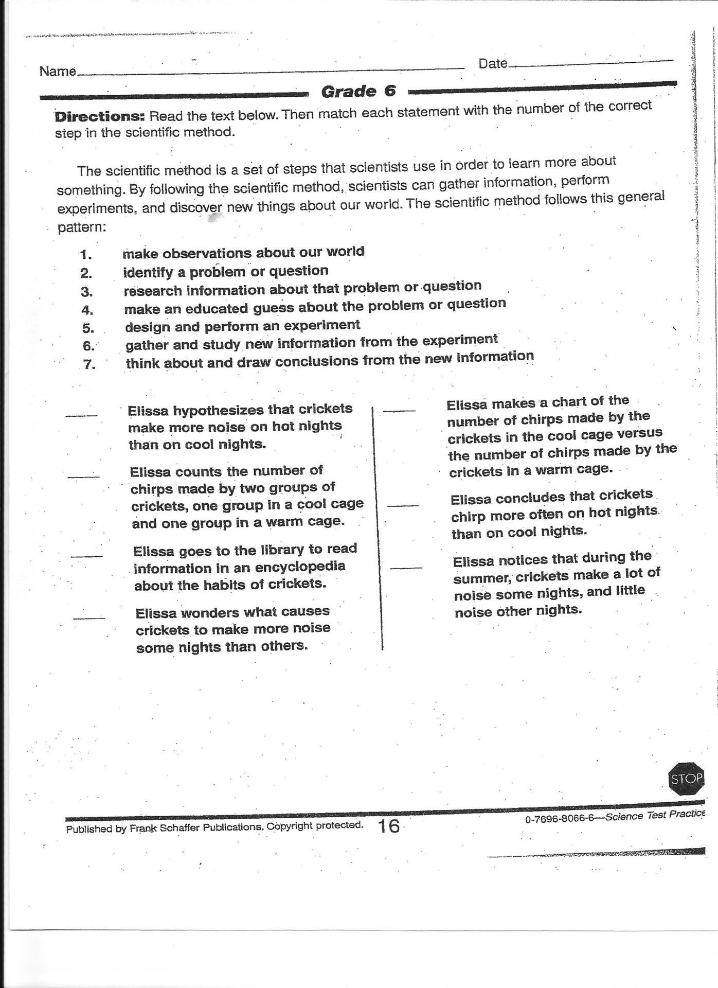 Scientific Method Review Worksheet
